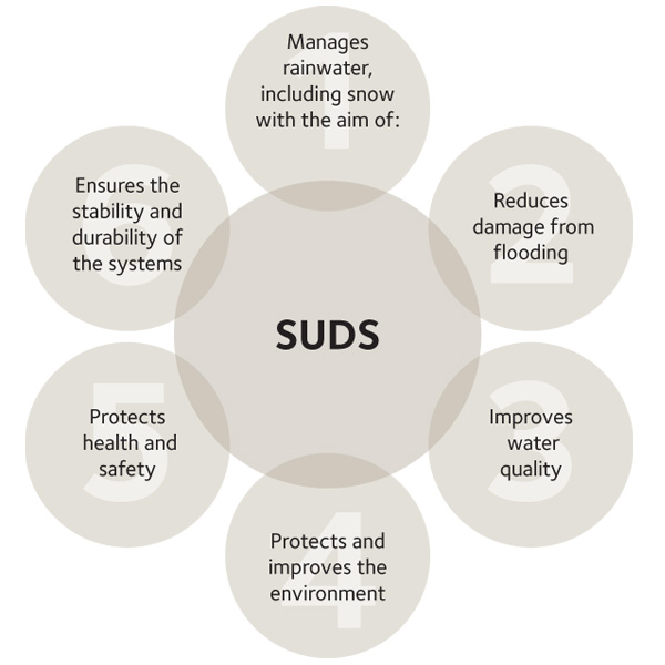 The environmental benefits of SuDS